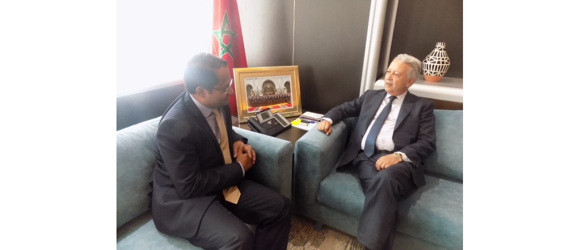 Ambassador's meeting with Mr. Mohamed Sajid, Hon'ble Minister of Tourism, Air Transport, Handicrafts and Social Economy, Government of the Kingdom of Morocco, on 18 September 2019