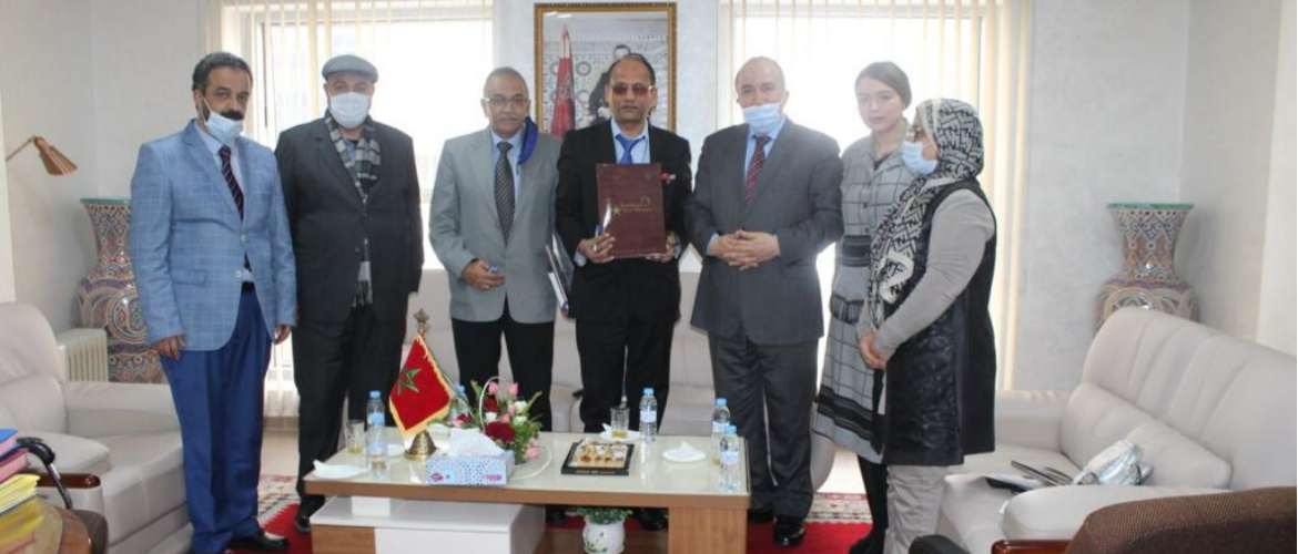Mr. Neeraj Agrawal, Chargé d'Affaires met with Mr. Mr. Abderrahim Iben Khayat Zougari, Regional Director of Crafts and Social Economy of Fes on March 18, 2021.