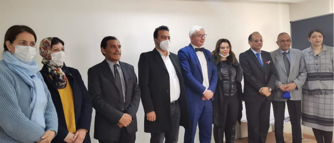 Mr. Neeraj Agrawal, Chargé d'Affaires met with Mr. El Mehdi Laraqui Houssaini, Vice President of Fez Chamber of Commerce and Industry on March 18, 2021.