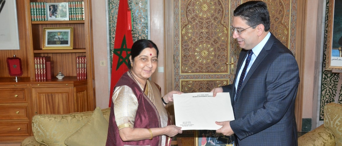 Handing over of a letter from Hon'ble Prime Minister of India, addressed to His Majesty King Mohammed VI, Kingdom of Morocco