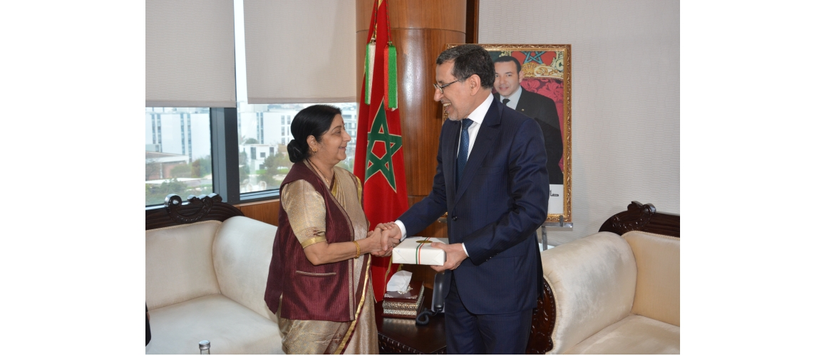 Call on H.E.  Saad Eddine Othmani, Hon'ble Head of Government of Morocco during Hon'ble EAM's visit to Morocco from 17-18 February 2019